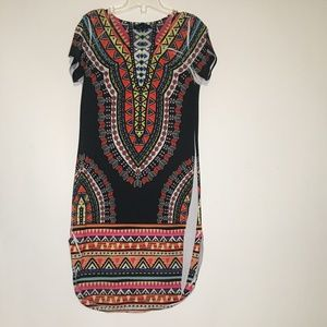 love J Multicolored Print Dress Small